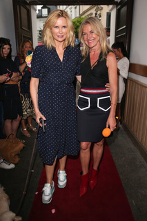 MUNICH, GERMANY - JULY 10: Veronica Ferres and fashion designer Martina Koula during the three years anniversary of fashion label LAKOULA at St. Anna Platz on July 10, 2020 in Munich, Germany. (Photo by Gisela Schober/Getty Images)